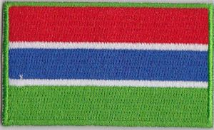 Gambia Embroidered Flag Patch, style 04